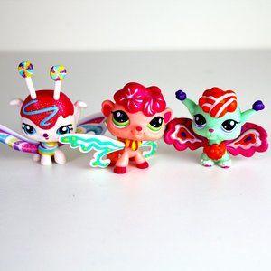 Littlest Pet Shop Fairies #3135 #2707 #2706 Candy